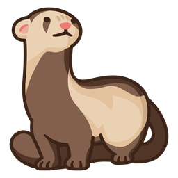 Cute standing ferret illustration