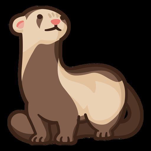 Cute standing ferret illustration
