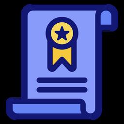 Diploma graduation icon