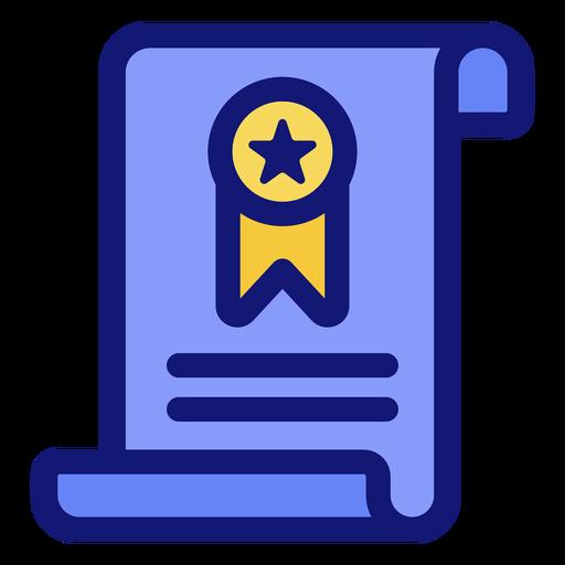 Icono de graduación de diploma