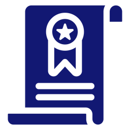 Diploma graduation icon blue