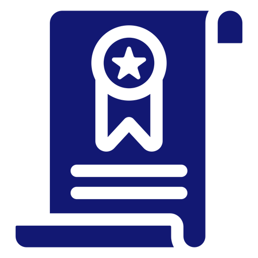Diploma graduation icon blue Transparent PNG