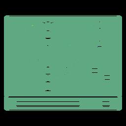 Mezclador de DJ plano verde