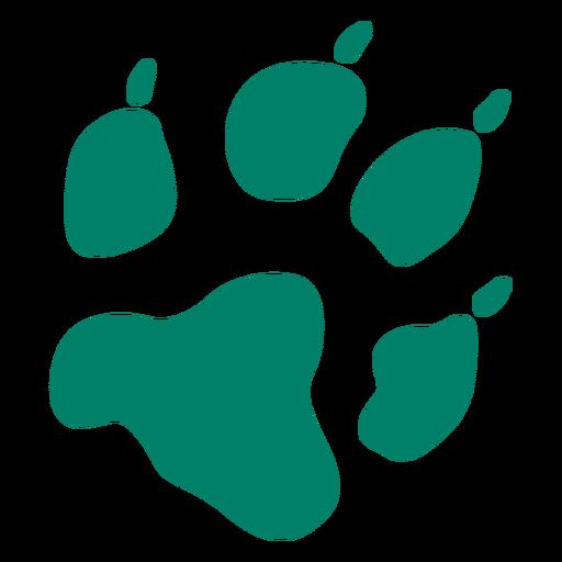 Dog footprint silhouette