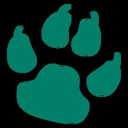 Dog print silhouette