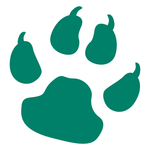 Dog print silhouette Transparent PNG