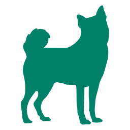 Cachorro em pé silhueta cachorro