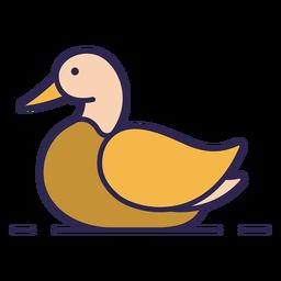 Pato pájaro plano