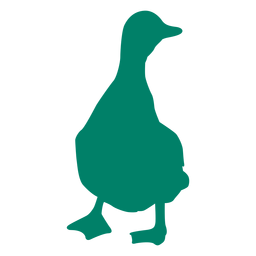 Duck standing silhouette