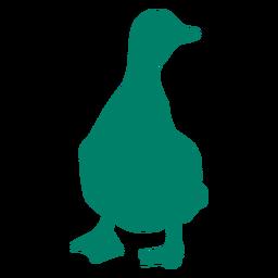 Silueta de pato