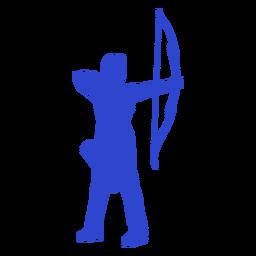 Arquero hembra azul