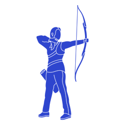 Female archer blue