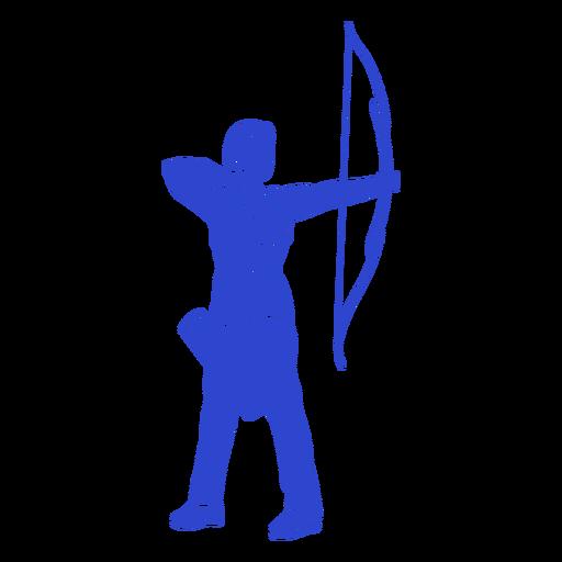 Female archer blue Transparent PNG