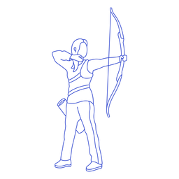 Female archer stroke