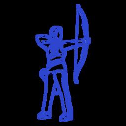 Golpe de arquero femenino
