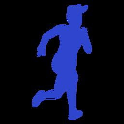 Atleta femenina azul