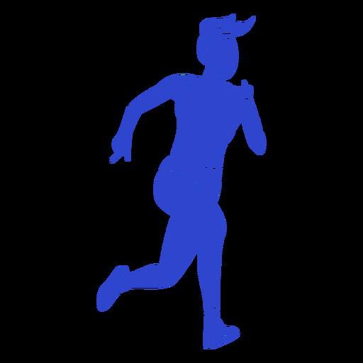 Female athlete blue