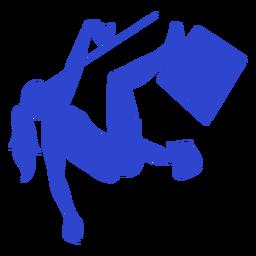 Escalador hembra azul