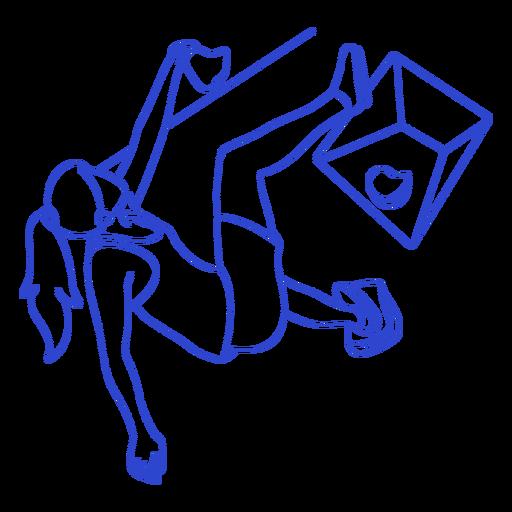 Golpe de escalador femenino