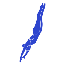 Female swimmer blue
