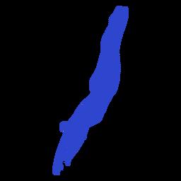 Nadador femenino azul