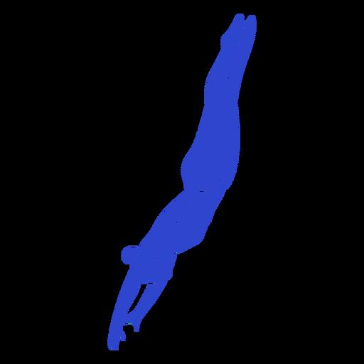 Female swimmer blue