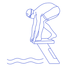 Female swimmer ready stroke