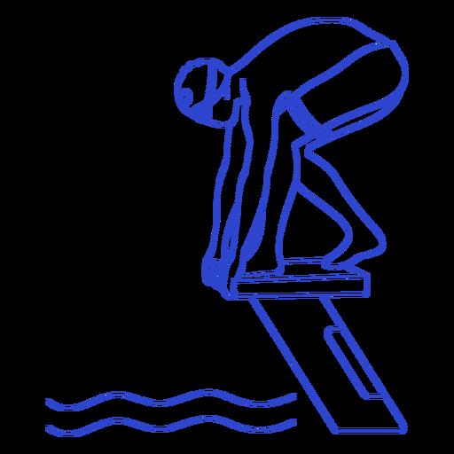 Female swimmer ready stroke