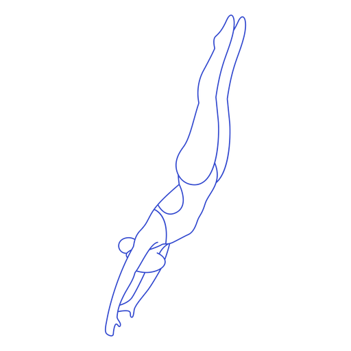 Female swimmer stroke