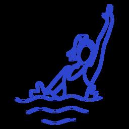 Female synchronized swimmer stroke