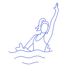 Golpe de nadador sincronizado femenino