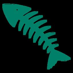 Silueta de espinas de pescado