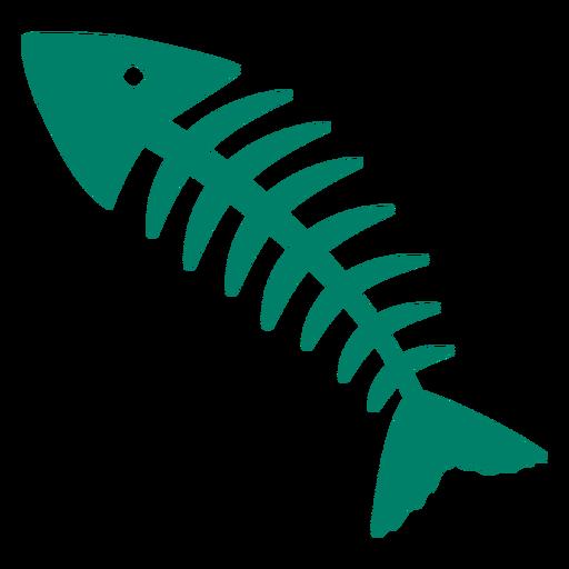Silueta de espinas de pescado Transparent PNG