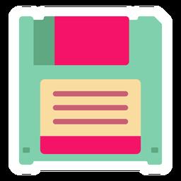 Adesivo plano de disquete