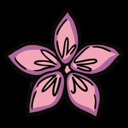 Ilustración de origami de flor