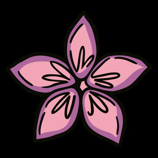 Flower origami illustration
