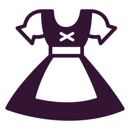 German dirndl stroke