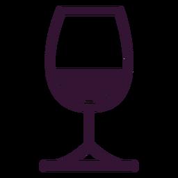 Glas Wein Schlaganfall
