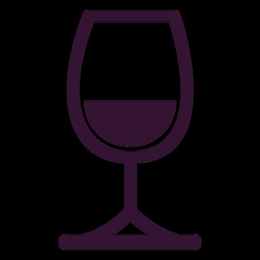 Glass of wine stroke