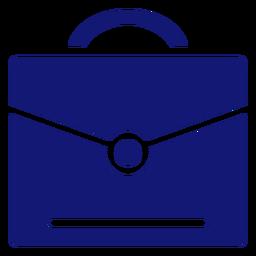 Abschluss Aktentasche Symbol blau