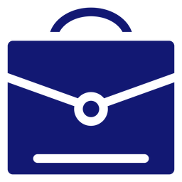 Graduation briefcase icon blue
