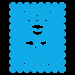 Gorra de graduación y guirnalda de papercut de diploma