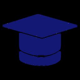 Icono de gorro de graduación azul