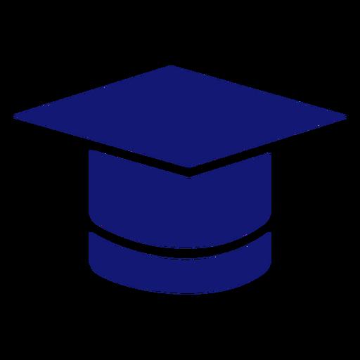 Graduation cap icon blue Transparent PNG