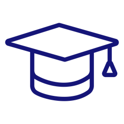 Graduation cap icon stroke