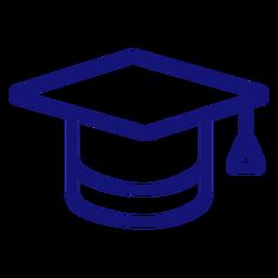 Graduation cap icon stroke