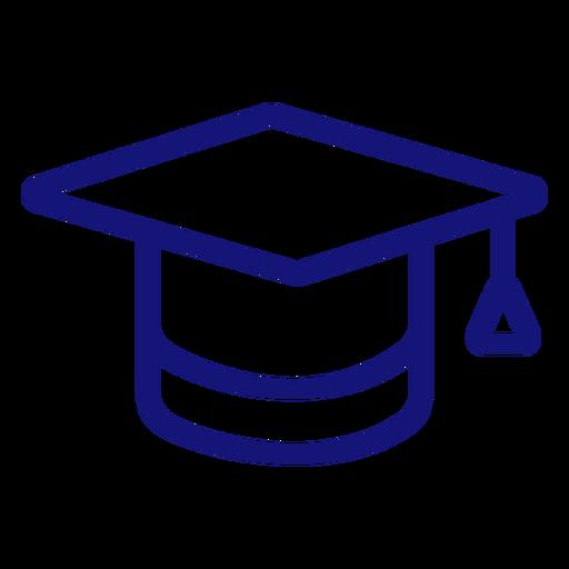 Trazo de icono de gorro de graduación