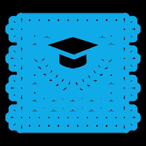 Graduation cap papercut garland