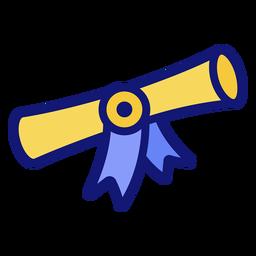 Icono de diploma de graduación diploma