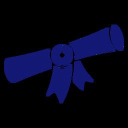 Ícone de diploma de graduação azul